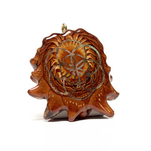 Sacred Geometry Pinecone Pendant, Gold